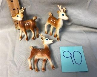 Lot 90 Vintage Plastic Reindeer
