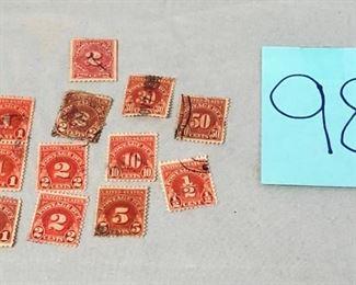 Lot 98 Vintage Postage Due Stamps