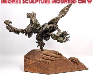 Lot 2 Jonathan Hertzel Abstract Bronze Sculpture Mounted on W