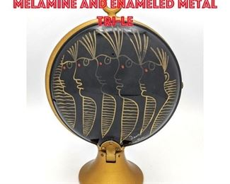 Lot 6 Jean Cocteau Painted Melamine and Enameled Metal TriLe