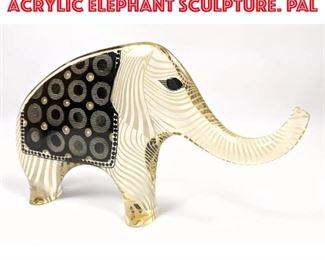 Lot 9 Abraham Palatnik Modern Acrylic Elephant Sculpture. PAL