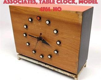 Lot 11 George Nelson Associates, table clock, model 4761. Ho