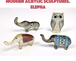 Lot 10 4pcs Abraham Palatnik Modern Acrylic Sculptures. Elepha