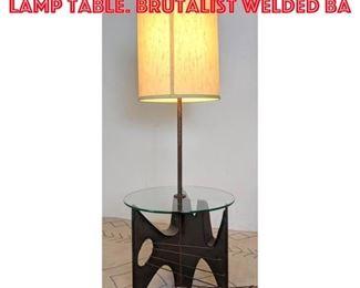 Lot 12 HARRY BALMER for LAUREL Lamp Table. Brutalist welded ba