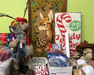 Sale loaded with Christmas decor.