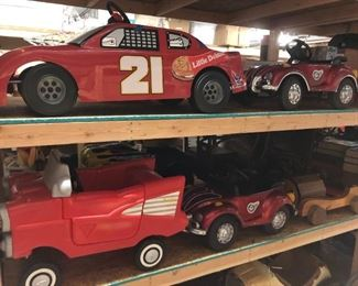 """Many """"ride on"""" vehicles and pedal cars to be offered, some vintage."""