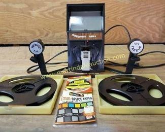 vintage reel tape viewer