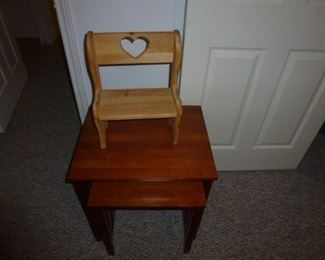 End Table,  Small Doll Bench