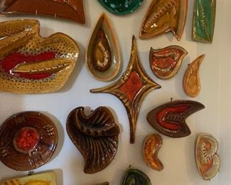 Extensive collection if MCM ashtrays - more photos to follow