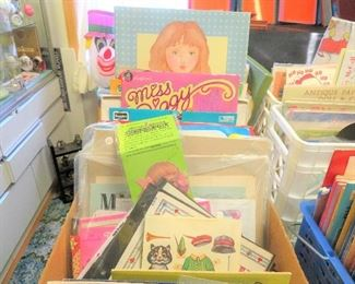 EXTRAORDINARY SELECTION OF PAPER DOLLS, GREETING CARDS, ALL VINTAGE AND IN EXCELLENT CONDITION.