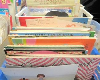 EXTRAORDINARY SELECTION OF PAPER DOLLS, GREETING CARDS, ALL VINTAGE AND IN EXCELLENT CONDITION