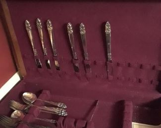 Silverplated flatware by Rogers