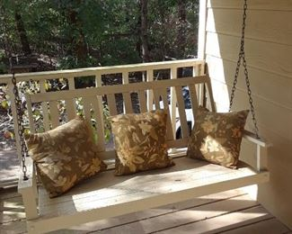 Wood porch swing