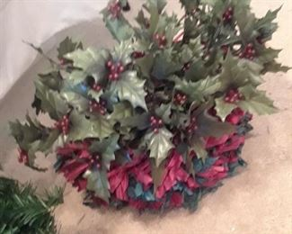 Decorative holly sprigs