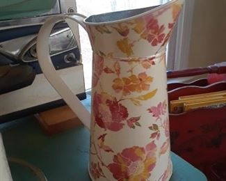 Floral decorated pitcher