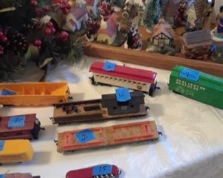 Toy trains and cars