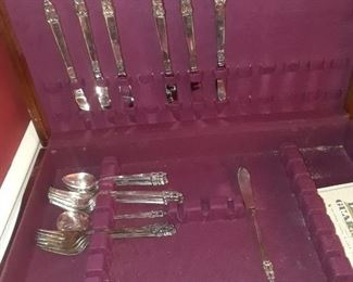 Silverplated Rogers flatware in box