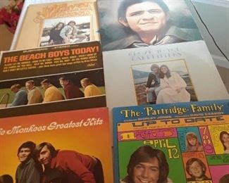 Monkees, Beach Boys, Partridge Family LPs