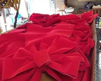 A box full of red bows