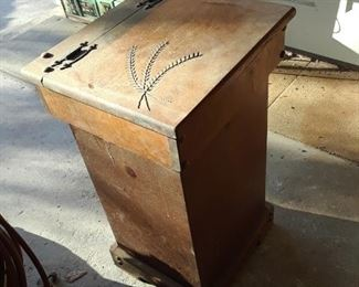 Potato bin, all wood construction