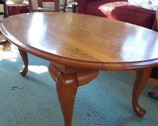 Oval coffee table, oak