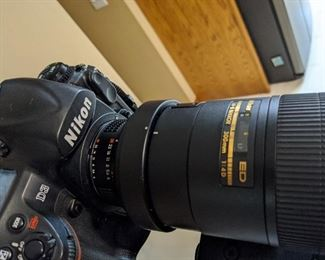 camers and lens Nikon D3, 300mm lens