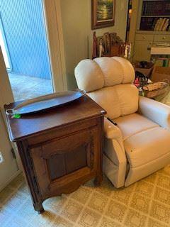 Antique side table, Massage Recliner