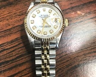 DIAMOND AND GOLD ROLEXES