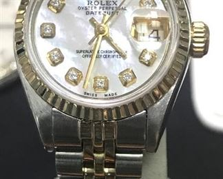 DIAMOND AND GOLD ROLEX