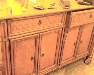 Rattan style dresser