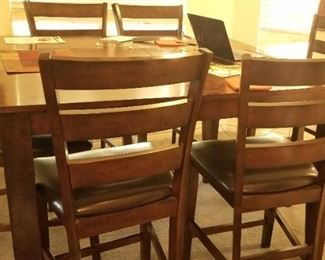 High top dining table with chairs, you will be set for the holidays