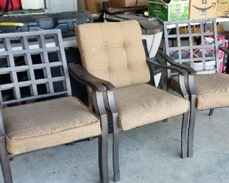 Chairs, total of 4 for outdoor set