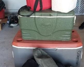 Some of the coolers and travel bags