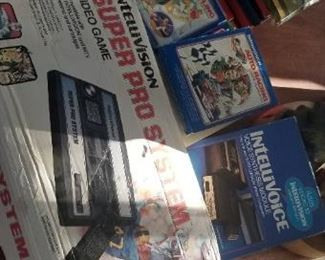 Intellvision,game system,  games and accessories.  Sold as one lot