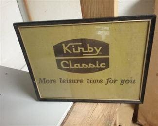 RARE KIRBY ADVERTISING