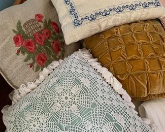 Hand made stocked pillows
