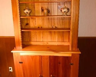 Hand crafted corner cabinet