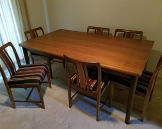 Linde Nilsson Mid-century Dining Table and Chairs.  Made in Sweden.