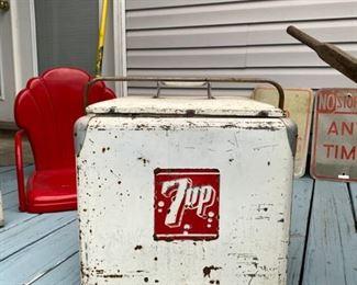 Vintage 7up Ice box