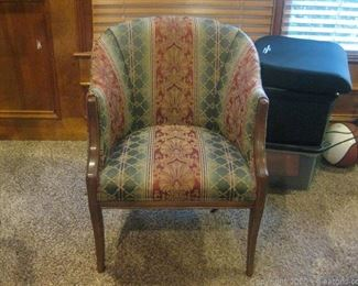 Vintage Upholstered Neo Classic Style Accent Chair