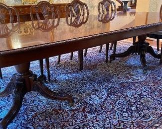 9.2 x 12.5 handmade pure silk dining room rug original cost $12,590 Asking price of 5250 or offer call 248 672 6663