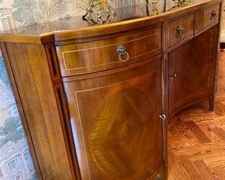 John Widdicomb neo classical serpentine inlaid sideboard original cost 16,250 Asking price 5200 or offer call 248 682 6663