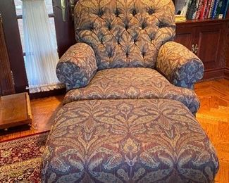 Beacon Hill custom upholstered club chair and ottoman original cost 3898 Asking price 1550 or offet