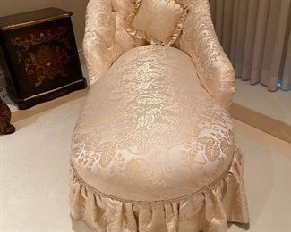 Custom made Hickory chair chaise lounge with silk fabric original cost 1689 Asking price 650 or offer