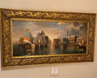 Pair Oil paintings Venice 450 each