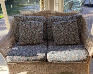Sunroom Five piece wicker seating group original cost 5600 Asking price 2000 all or offer