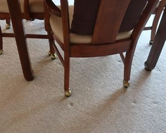 view  of  legs  of table  chairs