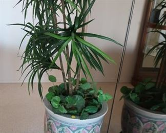 7.artificial  plant with  asian look base  and  stand