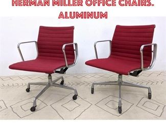 Lot 1001 Pr Charles Eames Herman Miller Office Chairs. Aluminum
