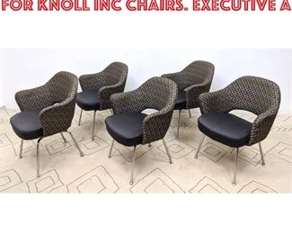 Lot 1004 Set 5pc Eero Saarinen for KNOLL INC Chairs. Executive A